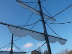 Image of ships sails. Play area Markeaton Park.