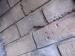 Close up image of brick wall. Markeaton Park.