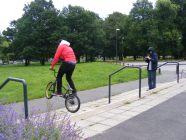 BMX trick at Osmaston Park.