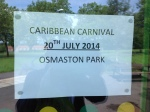 Image of poster advertising Caribbean carnival 2014.