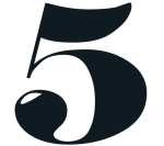 Image of the number five.