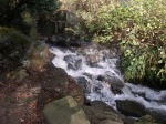 Waterfall at Markeaton Park.
