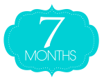 Image of the words '7 months' in blue bubble.