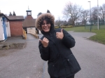 Image of Nanda (youth worker) at Normanton Park.