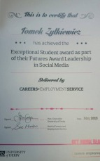 Image of award certificate